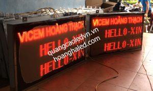 Bảng Led đếm sản phẩm trong nhà máy xi măng Hoàng Thạch 1