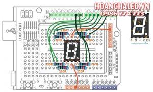 Thi công bảng LED công nghiệp đếm sản phẩm bảng mạch chạy chữ